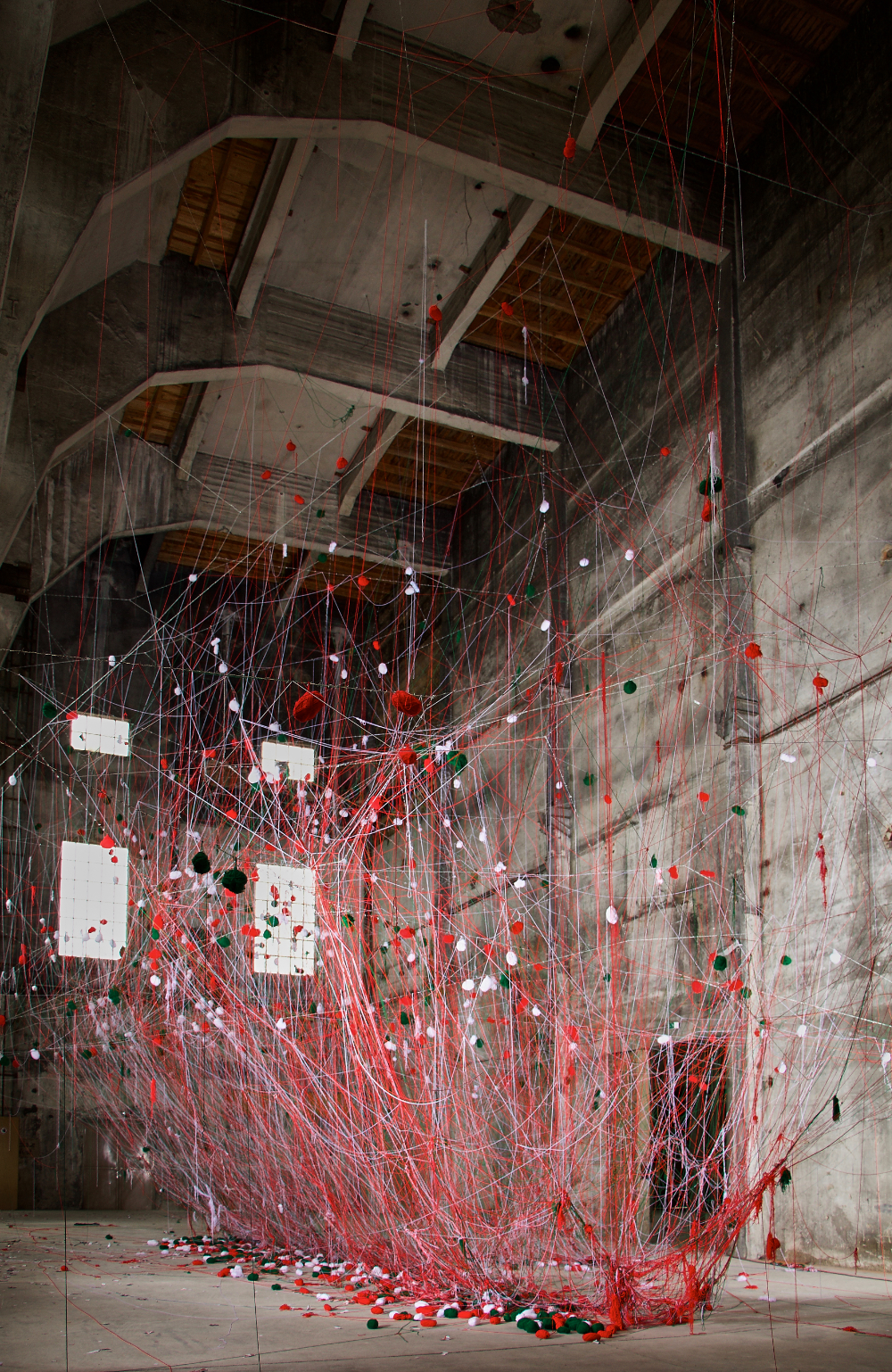 Wollfront-web in Asche zu Farbgut Festival
